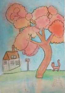 Water Colour Autumn from the hands of our little artists - Letitia