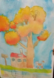 Water Colour Autumn from the hands of our little artists - Najia