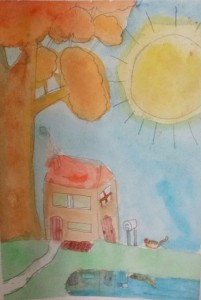 Water Colour Autumn from the hands of our little artists - Olivia