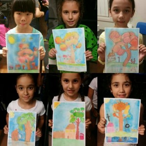 Water Colour Autumn from the hands of our little artists - group shot