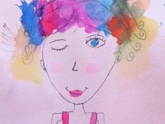 "Watercolour_""Fashion Girl"""