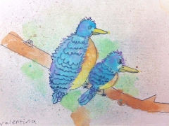 "Watercolour Painting_""Birds"""