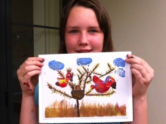 """Watercolour Project_""""Potato Stamping/Painting"""""""